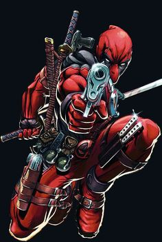 Deadpool - Thinking about trying to do this on a canvas.... not sure if I'm going to transfer it or try free hand.