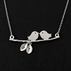 personalized lovebird necklaces