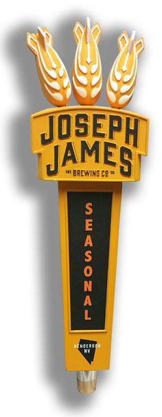Joseph James Brewing custom resin tap handle.