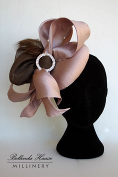 Silk Cocktail Hat BY BELLINDA HAASE  #HatAcademy #Millinery #hats                                                                                                                                                                                 More