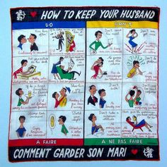 Wives Should Always Be Lovers.... Vintage 50's How To Keep Your Husband Handkerchief