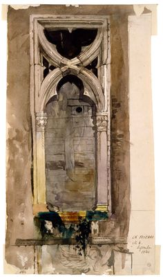 John Ruskin, painted in Venice In 1845 Ruskin made meticulous sketches of… John Everett Millais, Venice Painting, Medieval Gothic, John Ruskin, Gothic Architecture, Architecture Artists, Architectural Features, Architectural Drawings, A Level Art