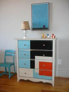 white and teal distress furniture - Google Search
