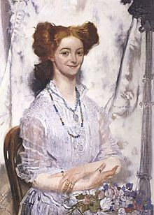 Sir William Orpen - Young Ireland Grace Gifford (Reproduction - original to be found). Women In History, Art History, Oil Painting Frames, Oil Paintings, Irish Painters, Research Images, Erin Go Bragh, Beauty Art, Hair Art
