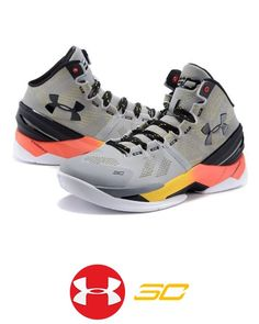 37090890a6f2 Men s UA Stephen Curry 2 Gray Black Shoes
