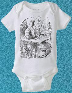 Alice in Wonderland, Baby Shower, Wonderland Caterpillar, Cute Baby Clothes