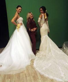 69783193ddc0 Qualche puntata fa....due proposte diverse ma spettacolari di   pinellapassaro One. One Shoulder Wedding Dress