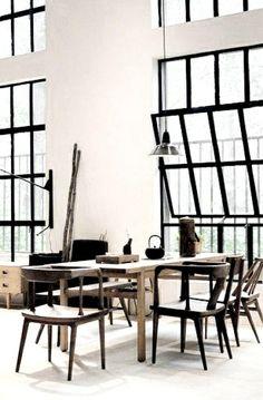 pivot window black framed windows