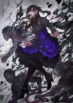 Fantasy Character Design, Character Design Inspiration, Character Concept, Character Art, Concept Art, Dark Fantasy Art, Fantasy Girl, Fantasy Artwork, Art Anime