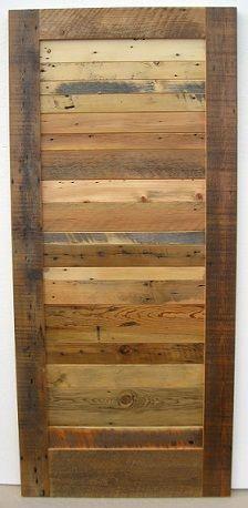 Reclaimed Wood Barn Door Slab -- make it from floor palette Reclaimed Wood Door, Wood Barn Door, Diy Barn Door, Diy Door, Barn Door Hardware, Wood Doors, Rustic Wood, Reclaimed Lumber, Pallet Wood