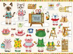 Paper dolls by Catuncle on Etsy