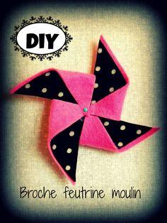 DIY: broche moulin en feutrine et tissu ........                                                                                                                                                                                 Plus