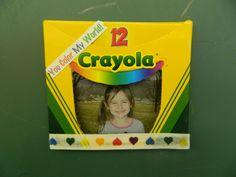 Crayola crayon box picture frame