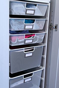 organizing baskets for clothes? Bras and panties?