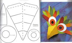 Naamari -- Paper masks are the best masks! Diy For Kids, Crafts For Kids, Arts And Crafts, Paper Crafts, Diy Crafts, Carnival Crafts, Carnival Masks, Bird Masks, Bird Costume