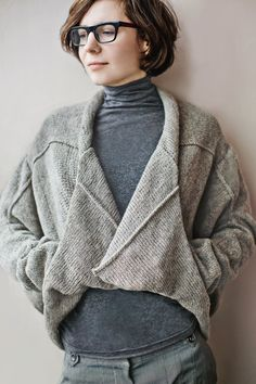 "Sweater-jacket ""Light air"" from wool. via Etsy."