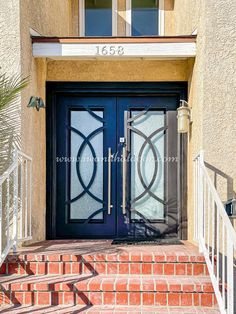 Our rust-resistant iron doors are extremely popular and a great way to add personality to your home! 💡 About this design: Concentric Double Entry Iron Door ☎️️ 877-205-9418 🌐 www.iwantthatdoor.com Wrought Iron Doors, Rust, Personality, Popular, Outdoor Decor, Design, Home Decor, Decoration Home, Wrought Iron Gates