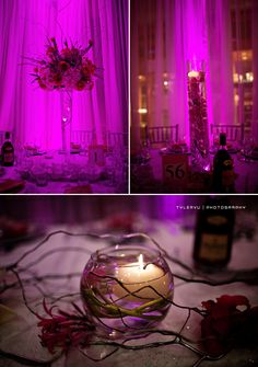 I like the style of candles, and the orchids and candles mix