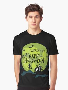 What better way to enjoy Halloween than witch everyone a Happy Halloween. Grab your broomstick and be prepared to trick and treat on October 31st with this great design. An ideal design for the scary, haunted and horror enthusiasts. (ad) Spooky Scary, Trick Or Treat, Happy Halloween, Chiffon Tops, Festive, Witch, Horror, Classic T Shirts, October