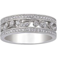 Platinum Flora Ring, top view