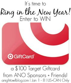Ring in the New Year – $100 Target Gift Card Giveaway!