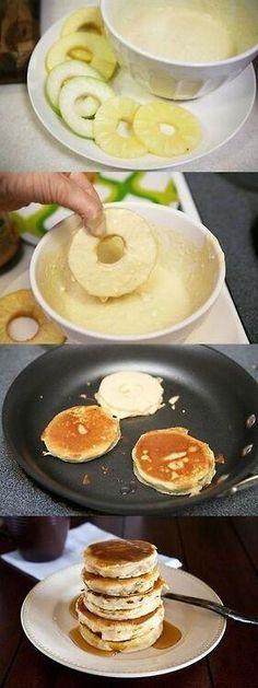Pancake fruit fritter, nice combination between fruit, fritter & pancake.