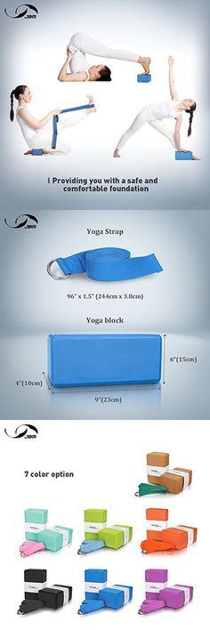 Lightweight JBM international JBM Yoga Blocks 2 Pack Plus Strap Cork Yoga Block Yoga Brick Natural /& Eco-Friendly Cork Yoga Block to Support and Deepen Poses Odor-Resistant and Moisture-Proof