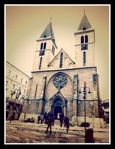 Sarajevo, cathedral of Jesus' heart