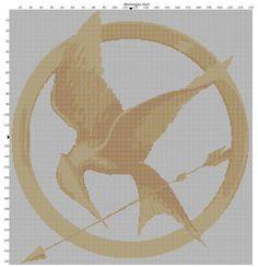 Mockingjay cross stitch pattern.