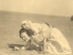 Vera & Jean on the beach