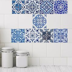 Looking for a budget friendly bathroom renovation or kitchen renovation solution? Tile Tattoos will cover existing tiles in minutes and last for years. #kitchenrenovation