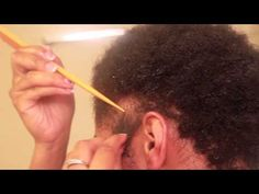 I wish I would have had this video when my hair was short! I love the toothbrush part. That would have been great!