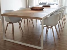 Modern Dining Table Best Tips on a Modern Dining Table Modern Dining Table. A modern dining table is quite different from the traditional ones with respect to various features. The design is one of… Dining Room Table, Kitchen Dining, Table Bench, Dining Rooms, Wood Table, Dining Chairs, Modern Dining Table, Small Dining, Modern Chairs