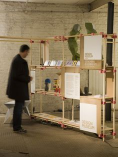 Design and production of a system for a wooden scaffolding structure which formed the exhibition stand of the Design Museum's show during Clerkenwell Design Week.