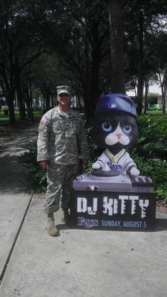 DJ Kitty spent the day around town and stopped by Gaslight Park in Downtown Tampa. 10,000 DJ Kitty's will be at the Trop on Sunday. The first 10,000 kids 14 and under will recieve one.