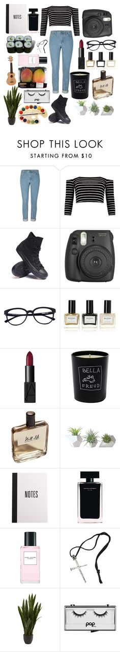 """796"" by overy ❤ liked on Polyvore featuring Converse, Balmain, NARS Cosmetics, Bella Freud, Olfactive Studio, Narciso Rodriguez, Jura, Marc Jacobs, Tom Binns and Nearly Natural"
