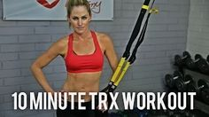 This 25 minute workout breaks down the basics of the TRX Suspension Trainer. Get a full body workout while you learn the different exercises on the TRX. Fitness Workouts, Trx Workouts For Women, Trx Ab Workout, Trx Full Body Workout, 15 Minute Workout, Workout Videos, Trx Gym, Cardio, Pilates Yoga