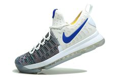 buy popular e77f9 320f8 Cheap And New KD 9 Flyknit MultiColor Warriors Home White - Click Image to  Close