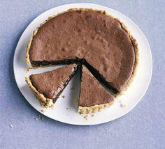 Chocolate, hazelnut & salted caramel tart