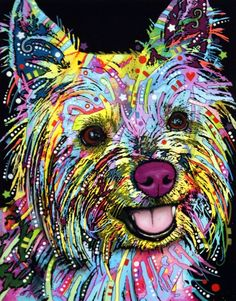 "dean russo art    (Okay, I know this is a dog, I don't have a ""dogs in art"" board, yet, and this looks just like my Nigel when he hears a squeaky toy!  anne bevan )"