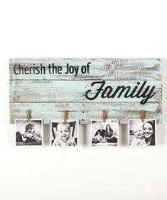 Look what I found on #zulily! 'Cherish the Joy of Family' Photo Holder by Drakestone Designs #zulilyfinds