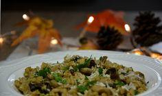 Risotto z pieczarkami i suszonymi grzybami