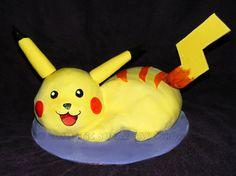 Homemade Pokémon Pikachu cake
