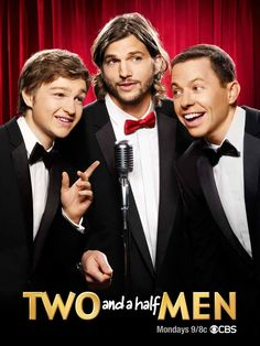 He may be a crummy hubbie, but I'm loving Ashton on Two and a Half Men!  His character is so endearing and funny.  He seems to get some version of naked each episode, which is an added bonus!