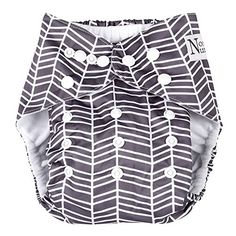 Herringbone Unisex Baby Cloth Pocket Diaper with Bamboo Insert for Boy or Girl by Nora's Nursery. For product info go to: https://all4babies.co.business/herringbone-unisex-baby-cloth-pocket-diaper-with-bamboo-insert-for-boy-or-girl-by-noras-nursery/
