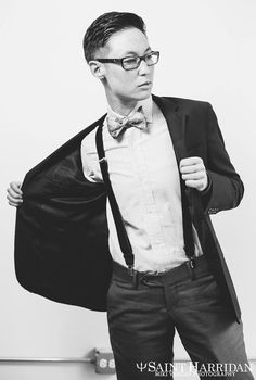 Dom Brassey of Saint Harridan (@saintharridan), the suiting company that is helping many gentlemen butches find their finest style. Photo by Miki Vargas Photography.
