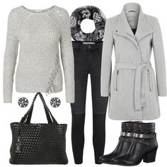 Grey Black by Frauenoutfits