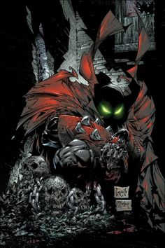 Spawn by Greg Capullo & Todd McFarlane Comic Book Artists, Comic Book Characters, Comic Artist, Comic Character, Comic Books Art, Spawn Comics, Batman Comics, Anime Comics, Dark Comics