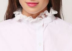 Lace Frill Blouse Collar // Storets.com // #STORETS #Accessories