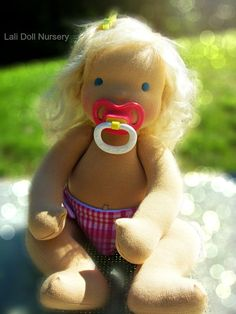 PDF Pattern  Jointed Waldorf Pacifier Baby Doll by LaliDolls, $25.00